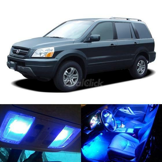 12x Blue Interior LED Lights Combo For Honda Pilot 2003