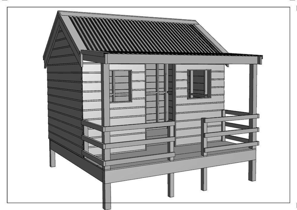 Cubby House Play House Great Aussie Outback Style Building Plans V4 Ebay