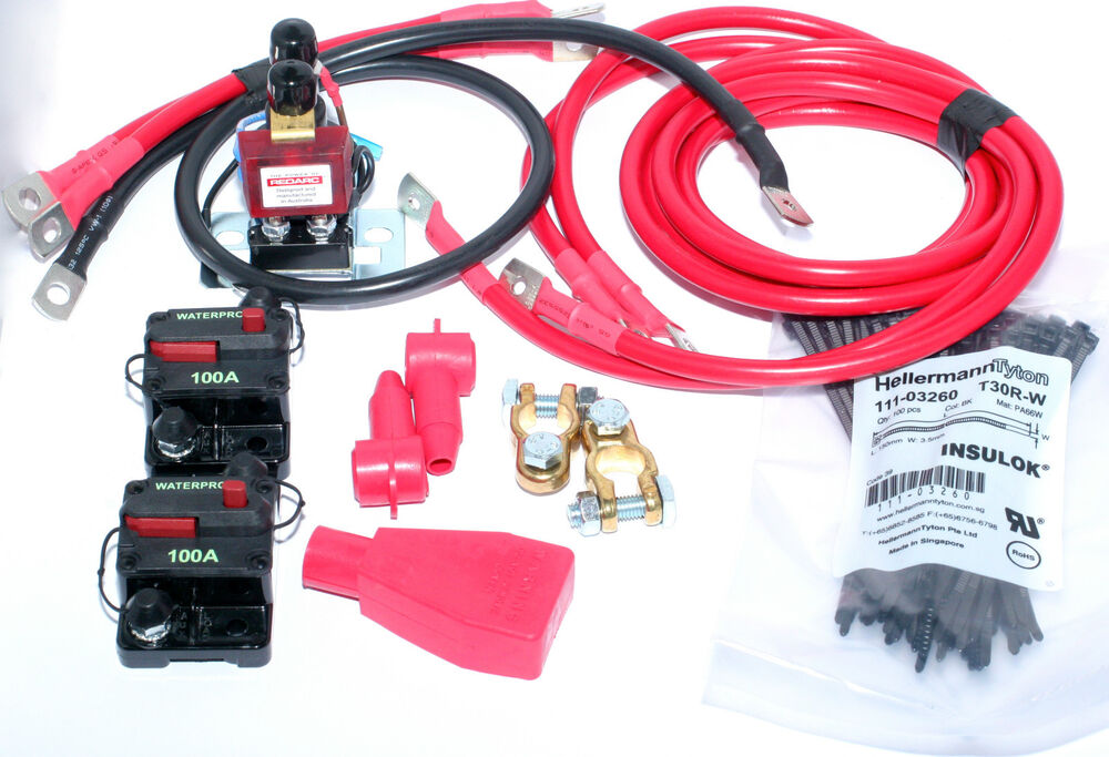 REDARC SBI12KIT DUAL BATTERY SYSTEM COMPLETE PACKAGE HIGH ...