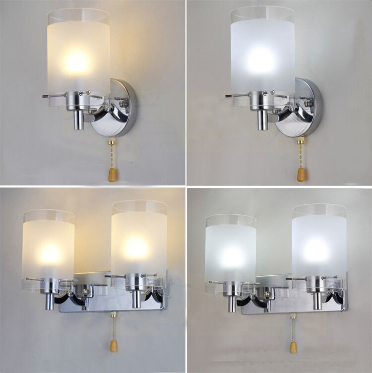 white glass indoor wall light lamp lights fitting bedroom ebay