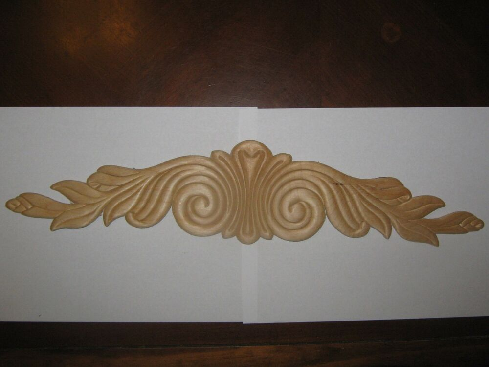 Decorative appliques wall decor crest carvings moldings