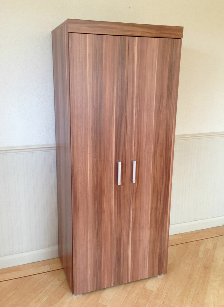 2 Door Double Wardrobe In Walnut Effect Bedroom Furniture NEW Set Availab