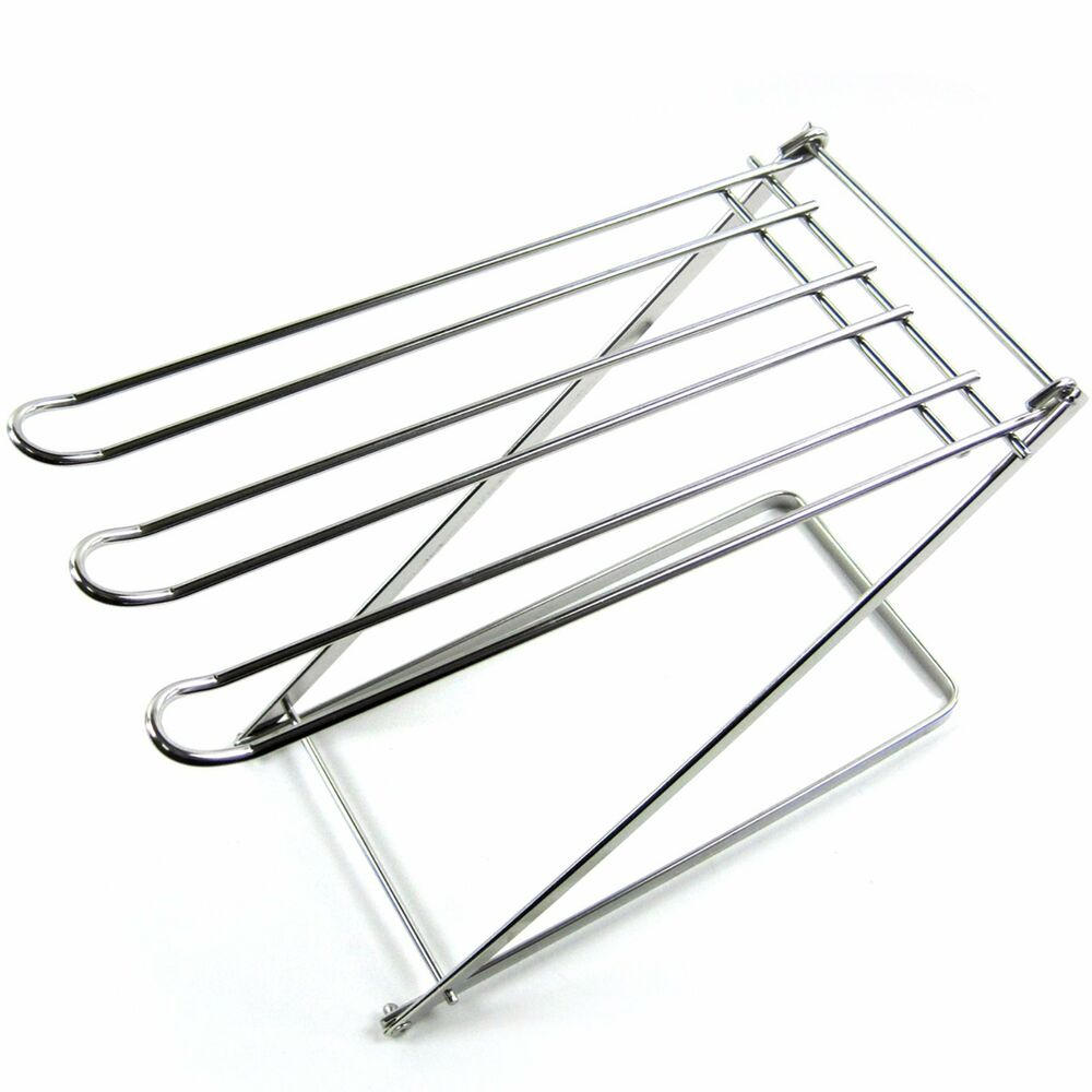 New stainless steel folding kitchen towel hanger towel drying rack sink holder ebay - Kitchen sink drying rack ...