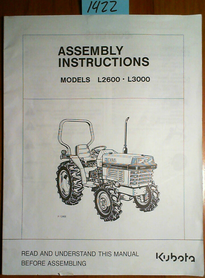 Kubota Headlight Assembly : Kubota l tractor assembly instructions manual