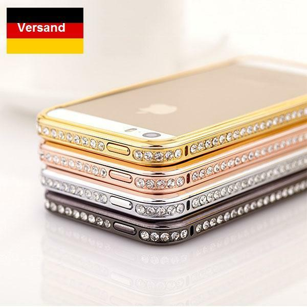 iphone 5 5s diamond bumper strass diamant h lle aluminium. Black Bedroom Furniture Sets. Home Design Ideas