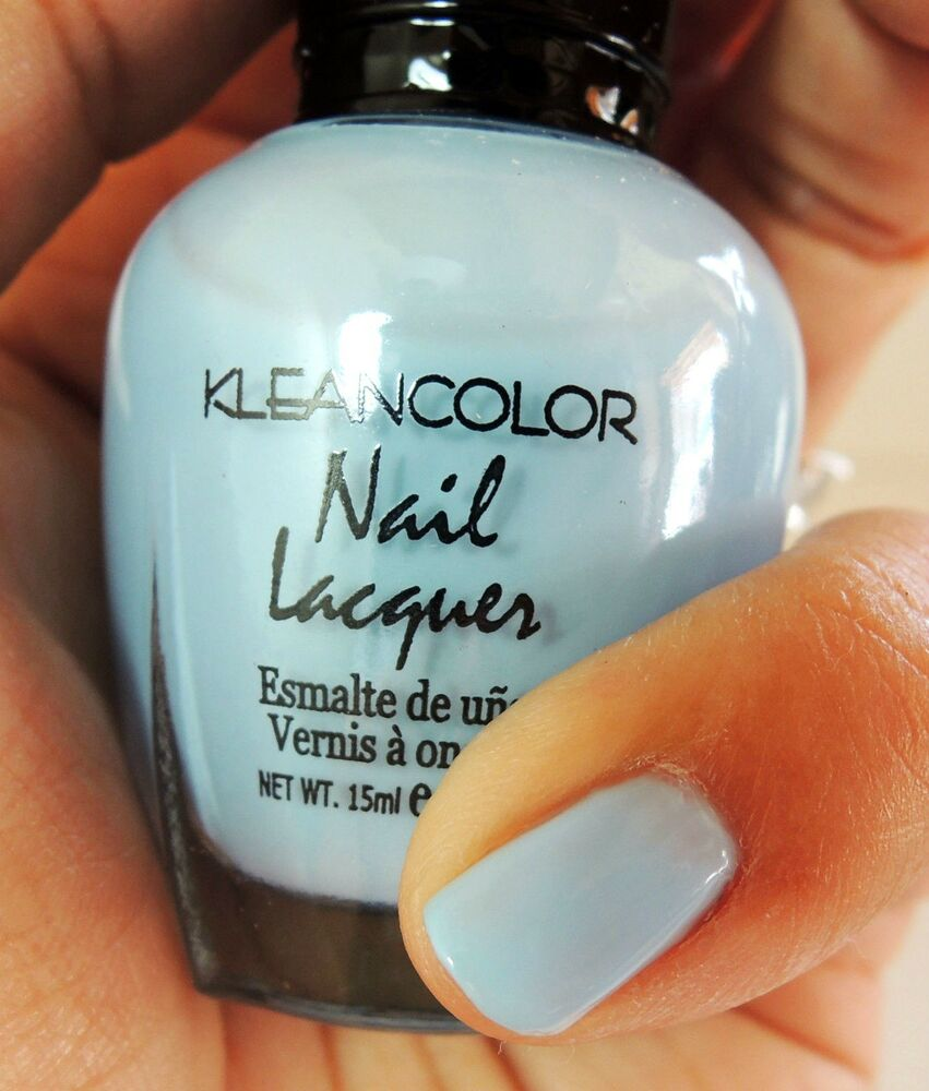 Pastel Blue Nail Polish - 1PC Kleancolor Nail Polish ...