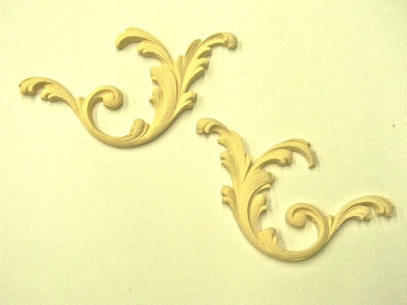 Floral Architectural Furniture Appliques Wood Resin Flexible Stainable Paintable Ebay