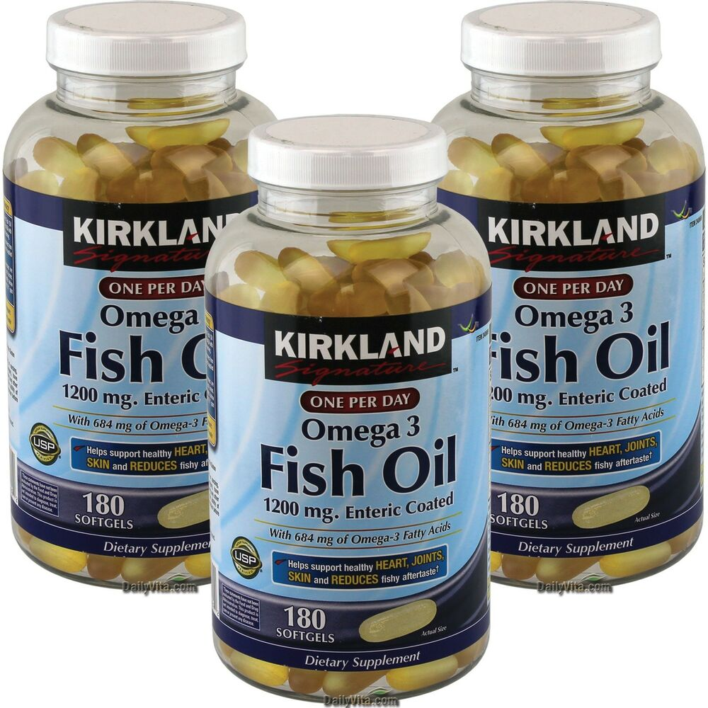 3 x kirkland omega 3 enteric coated 1200mg fish oil 180 for Epa dha fish oil