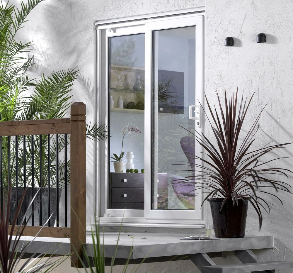 French sliding patio upvc door set brand new in stock ebay for Sliding door front door