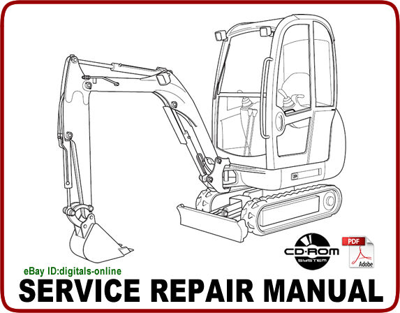 Jcb 8013 8015 8017 8018 Gravemaster Mini Excavator Service Repair Manual Cd