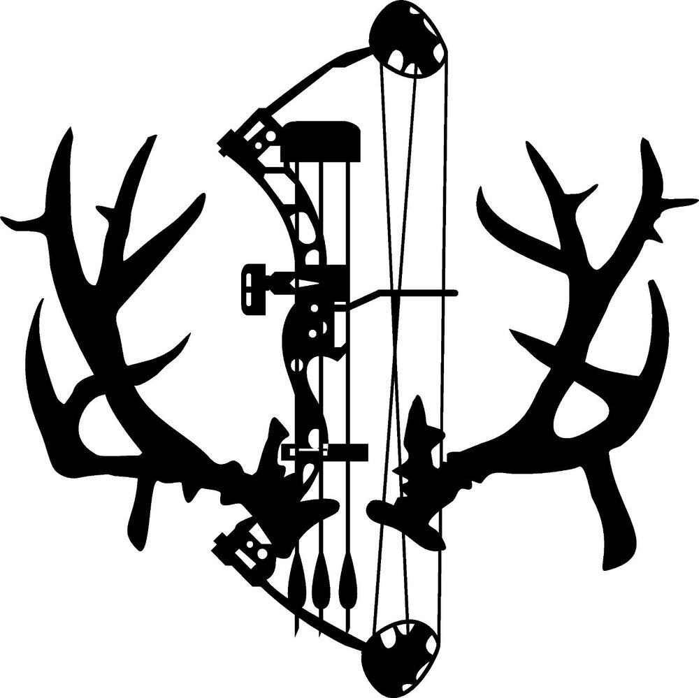 Non Typical Mule Deer Rack antlers decal & compund bow ...