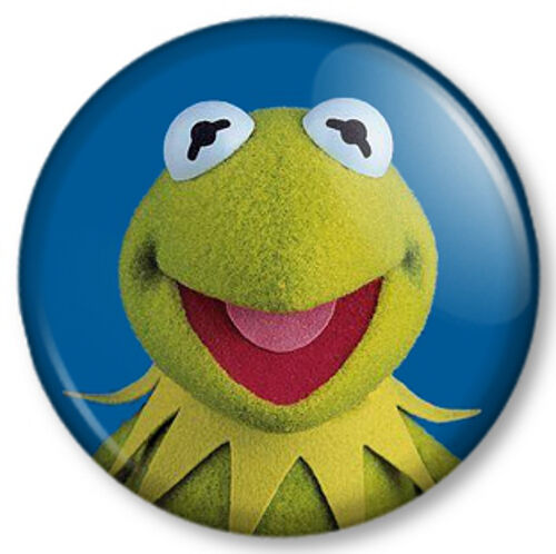 """Top 50 Muppets Loc 80: Kermit The Frog 25mm 1"""" Pin Button Badge Sesame Street"""