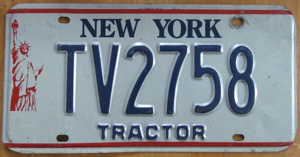 Tractor License Plates : New york liberty s tractor license plate tv ebay