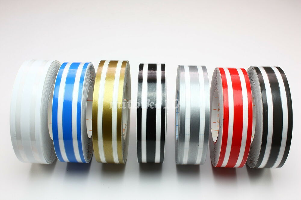 3 4 Quot Triple Pin Stripe Striping Tape Decals Stickers Vinyl Tape 18mm Car Ebay