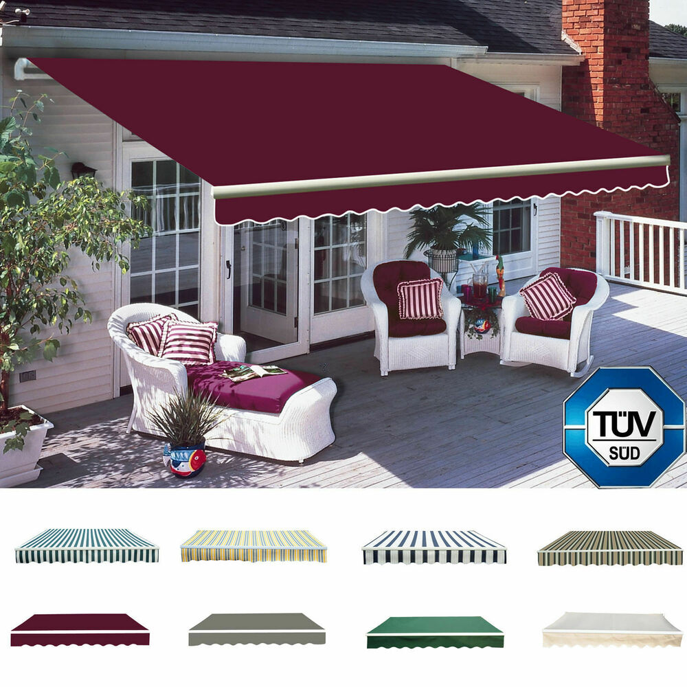 Manual Awning Canopy Outdoor Patio Garden Sun Shade ...