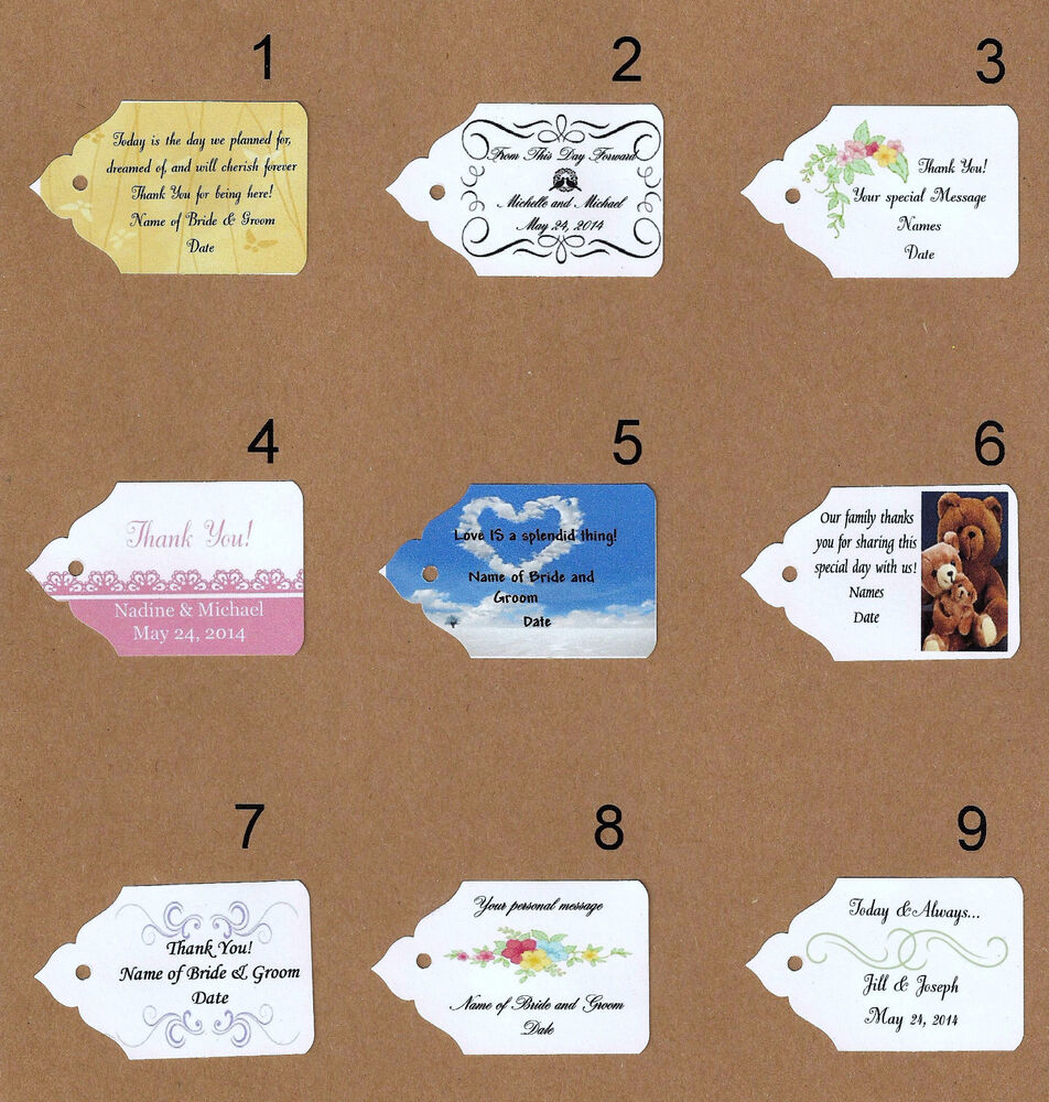 Wedding Favor Tags Ebay : ... or Ivory Personalized Favor Tags- Weddings, Gifts, Any Day eBay