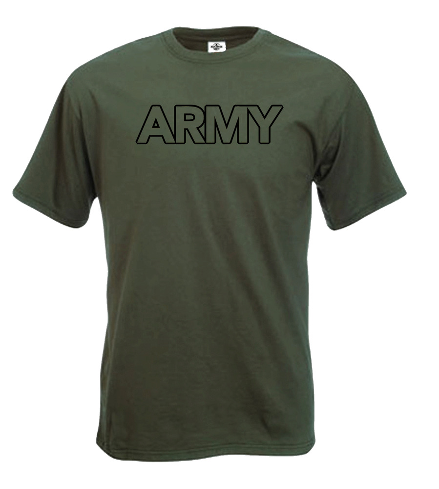 Army military forces green fun t shirt ebay for Military t shirt companies