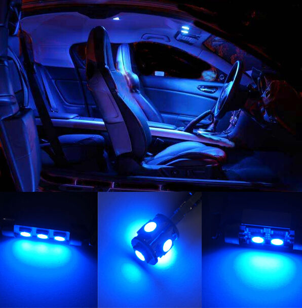 9 pcs blue led smd interior lights kit canbus no error for vw touran 1t ebay for Led car interior lights ebay