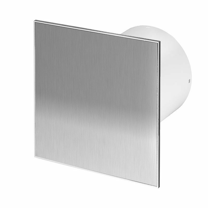 Stainless steel bathroom extractor fan 100mm 4 with timer humidistat wti100h ebay Humidity activated bathroom fan