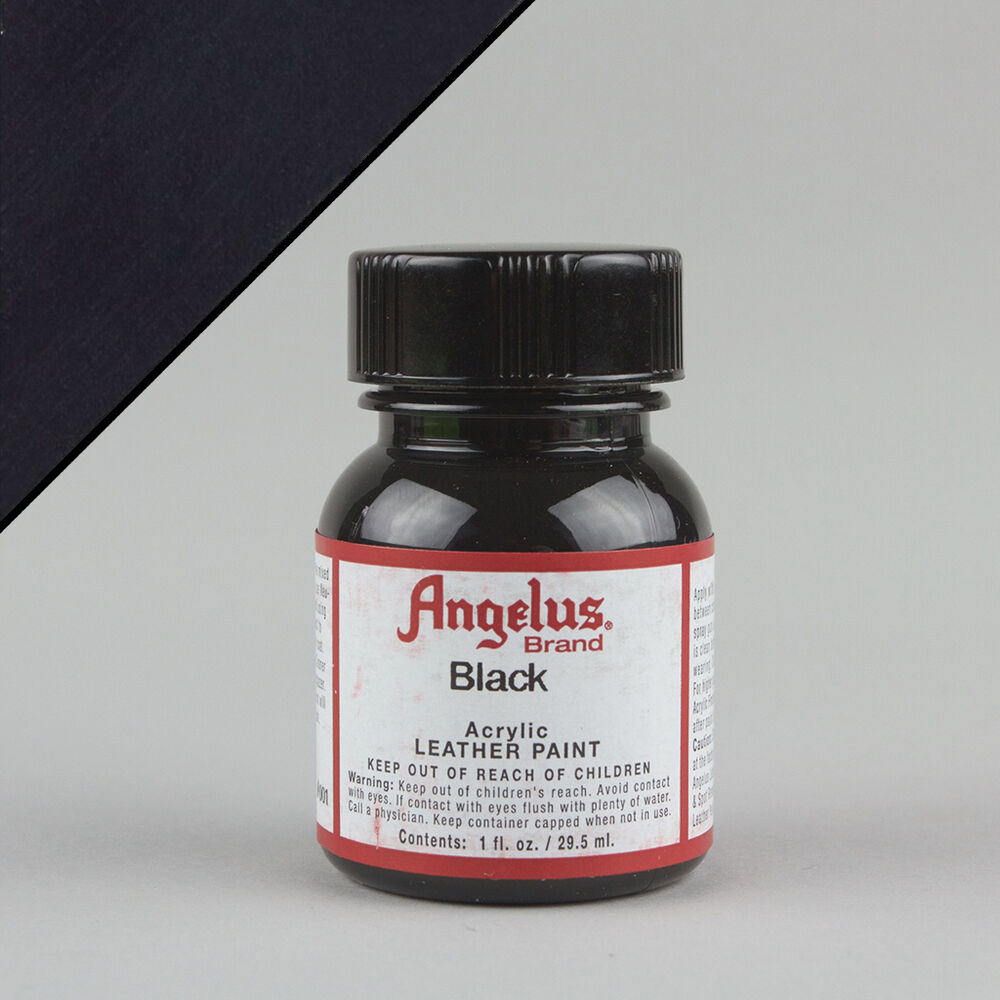 Angelus acrylic leather paint black 1oz 29ml bottle for Acrylic paint water resistant