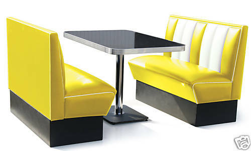 Bel Air Retro 50s Diner Furniture Table Restaurant Bench