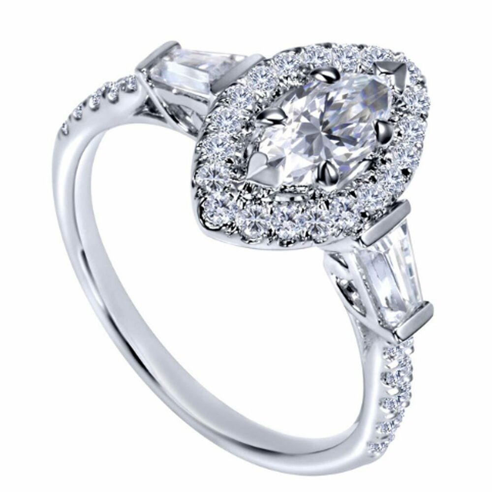 18k h si marquise shape halo diamond engagement. Black Bedroom Furniture Sets. Home Design Ideas