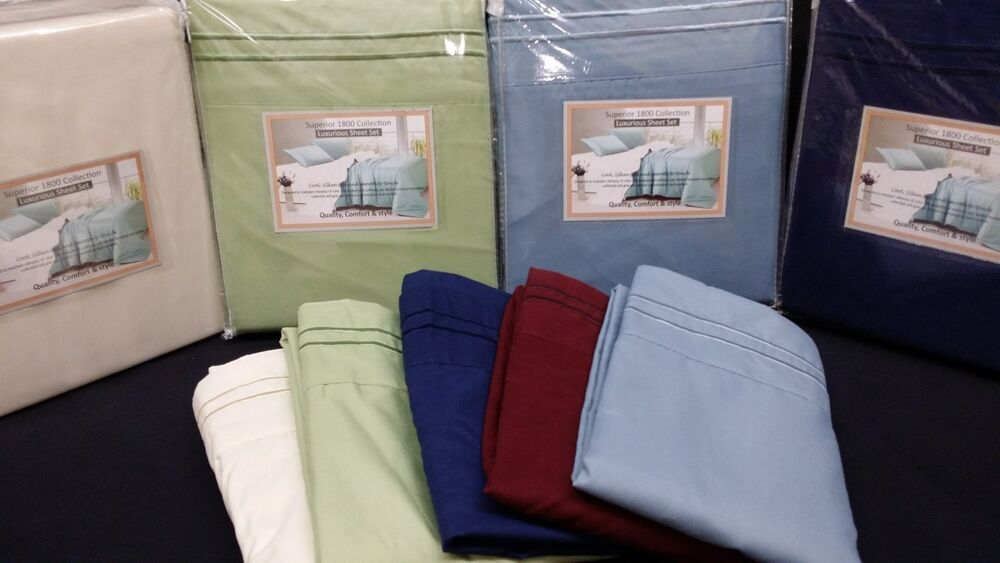 E King Size 4pc Sheet Set 1800 Deep Pockets Great For