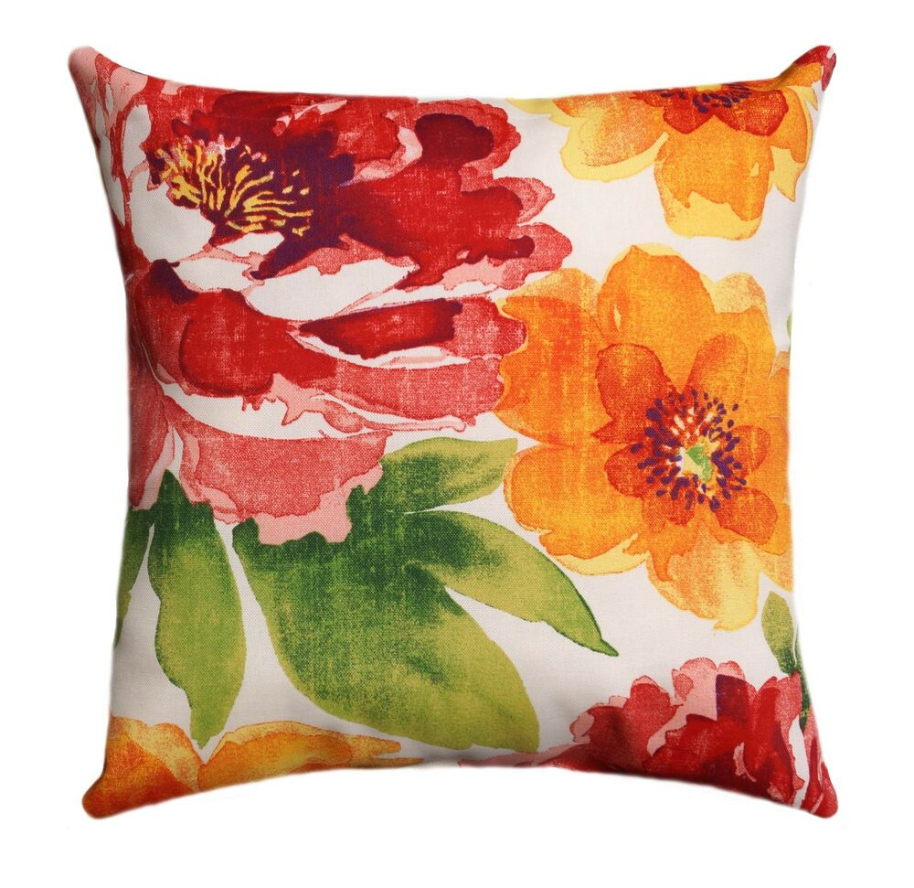 Floral Outdoor Decorative Throw Pillow, Richloom Solarium Muree Primerose eBay