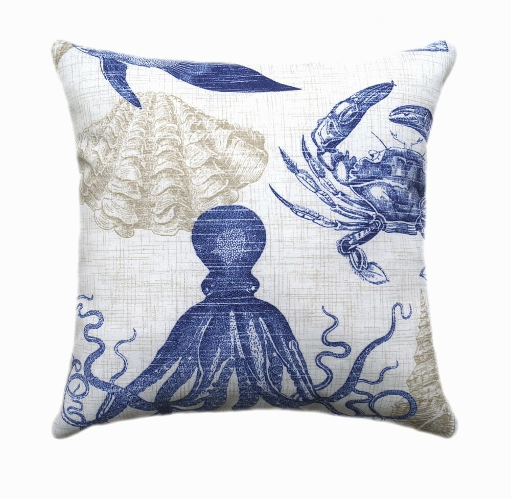 Throw Pillows Nordstrom : Richloom Sea Life Marine Nautical Decorative Outdoor Throw Pillow eBay