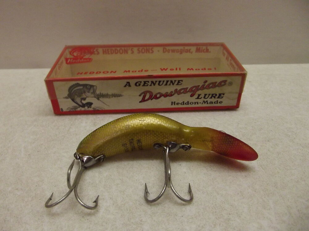 Vintage heddon tadpolly 9000 l fishing lure w box ebay for Vintage fishing lures ebay