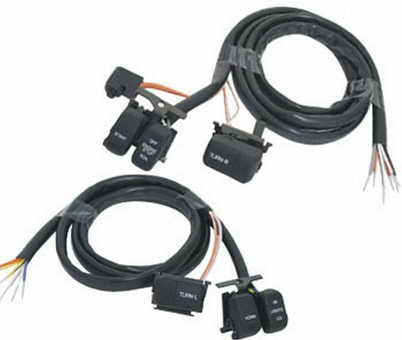 handlebar switch wiring kit black extended harley big twin