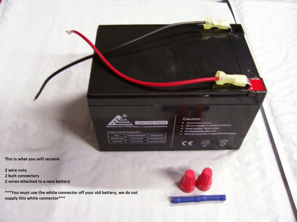 12v Blue Battery Replacement W Connection Kit For 12v Peg