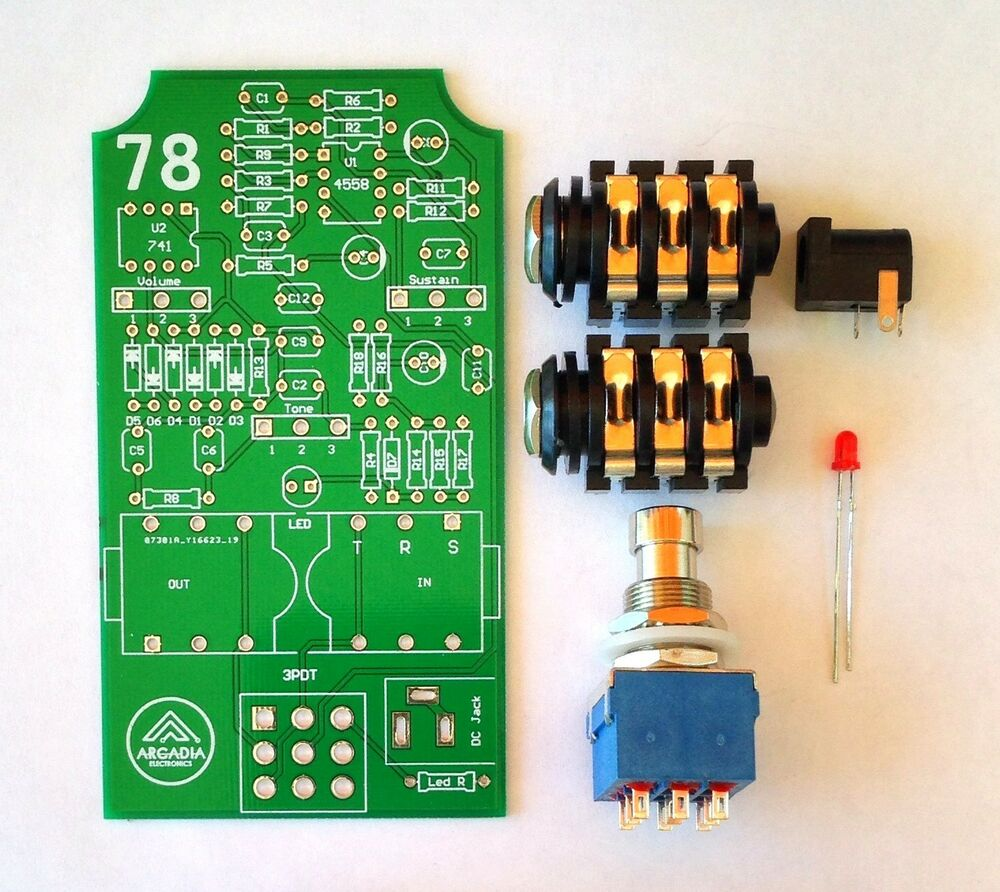 diy ic b muff fuzz distortion effect pedal kit pcb and more ebay