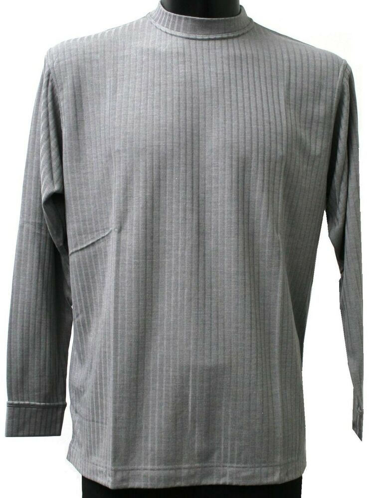 Mens fall t shirt long sleeve soft knit made in italy ebay for Shirts made in italy