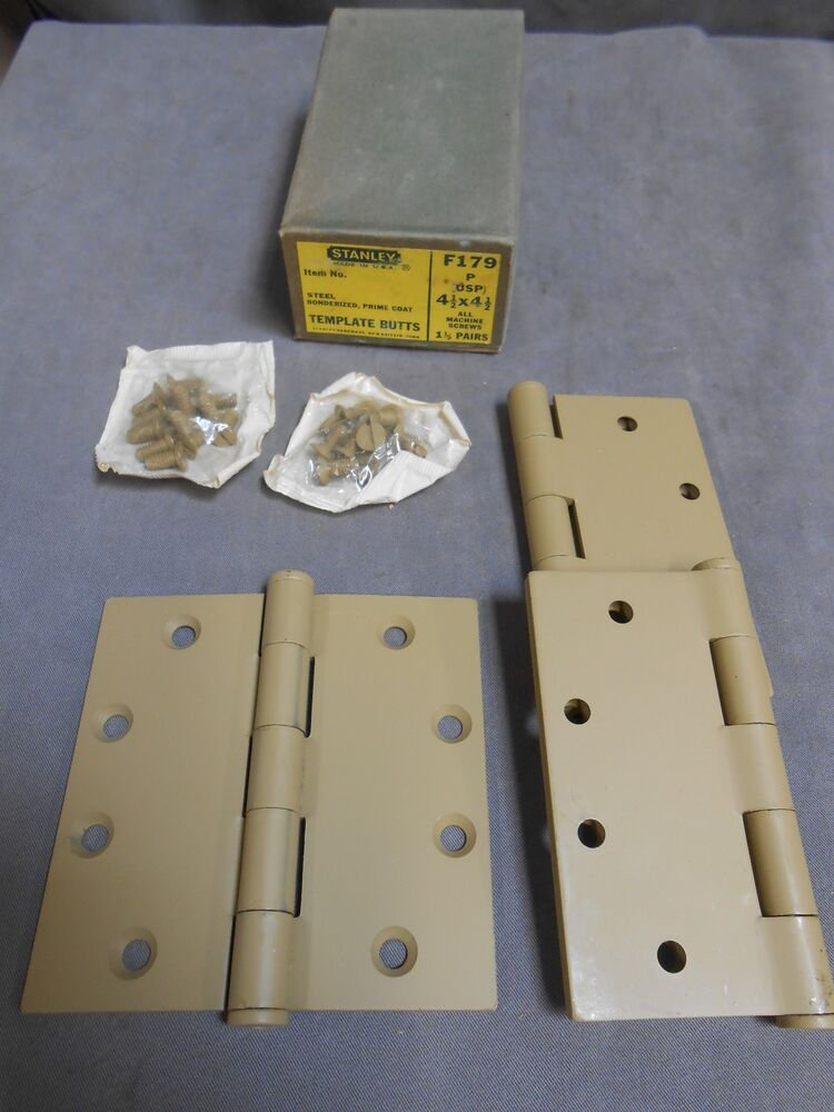 3 unused 4 1 2 x 4 1 2 stanley template butts door hinge for How to make door hinge template