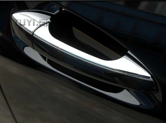 Chrome door handle cover trim for mercedes benz w117 cla for Mercedes benz chrome accessories