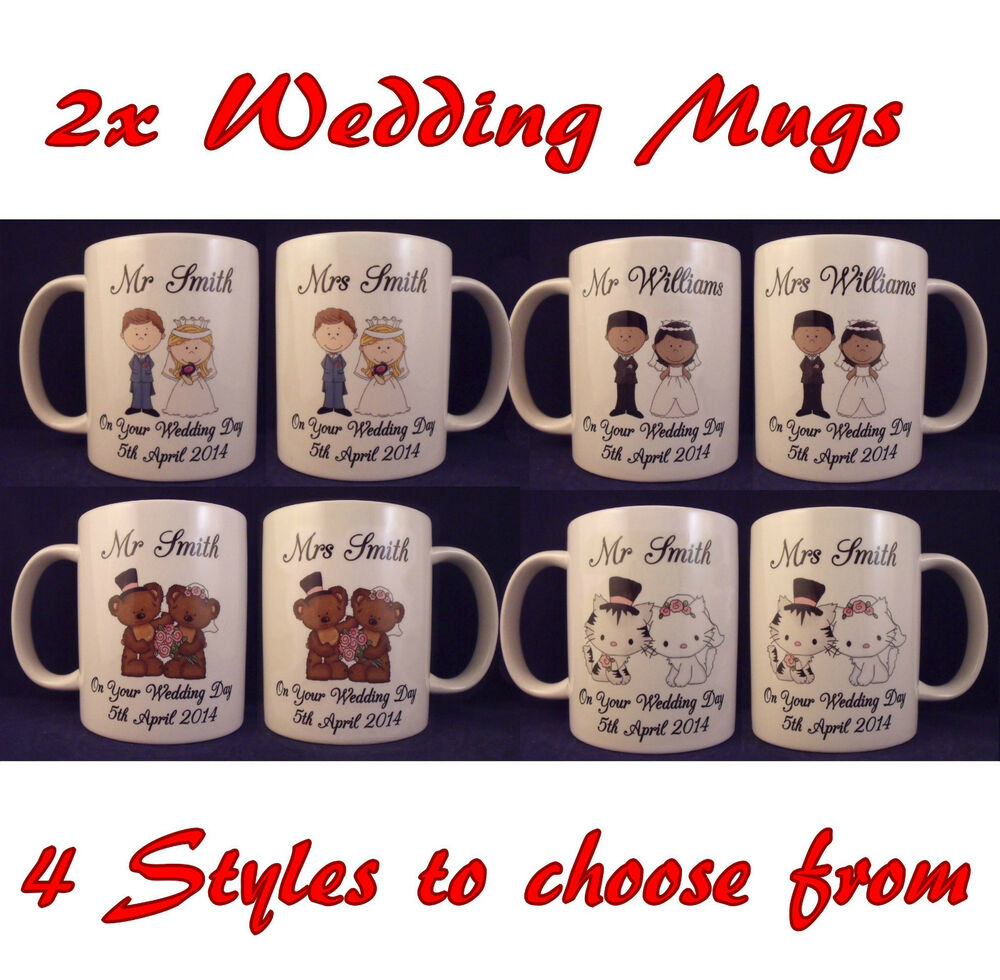 Wedding Gifts Mr And Mrs: Personalised Mr And Mrs Wedding Mugs- Anniversary