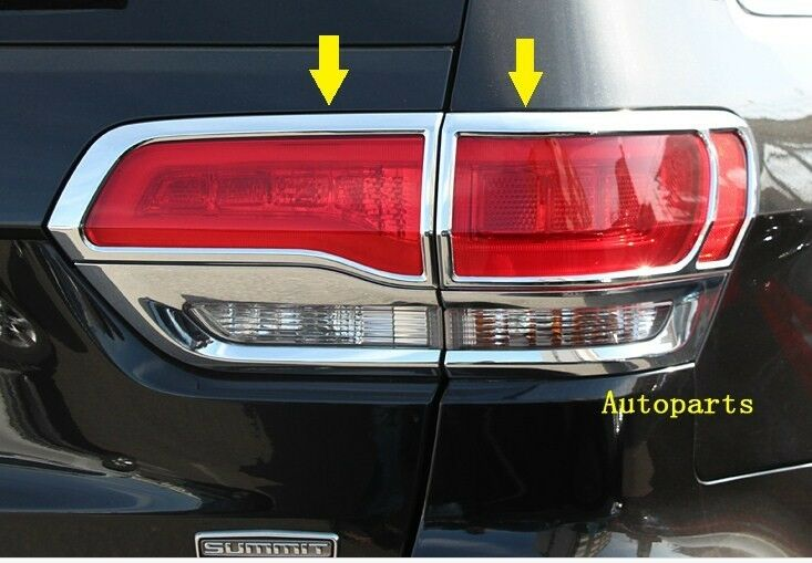 chrome tail light lamp cover frame trims 4pcs for jeep grand cherokee. Black Bedroom Furniture Sets. Home Design Ideas