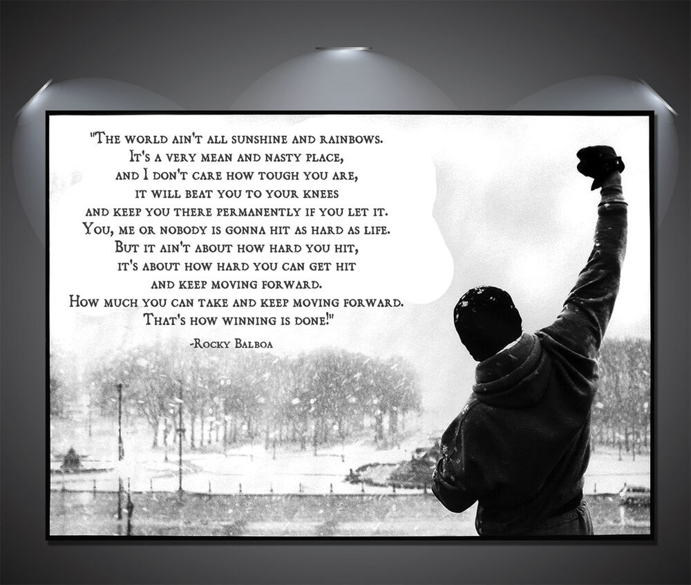 rocky balboa quote vintage large poster a1 a2 a3 a4