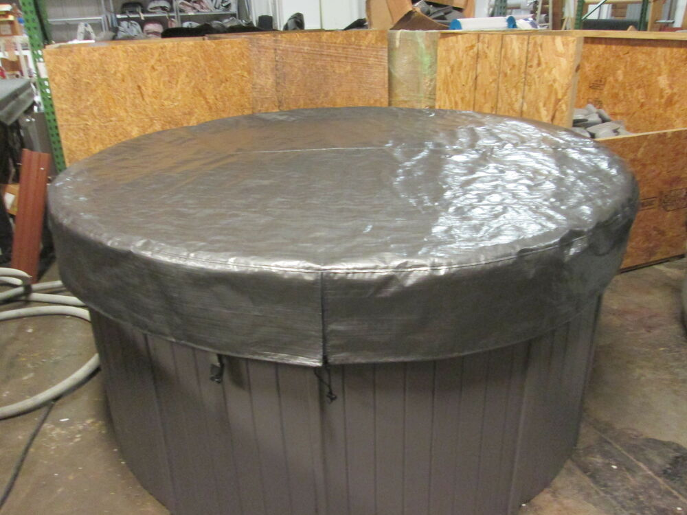 Spa hot tub cover cap sunshield 72 round viking image - American home shield swimming pool coverage ...