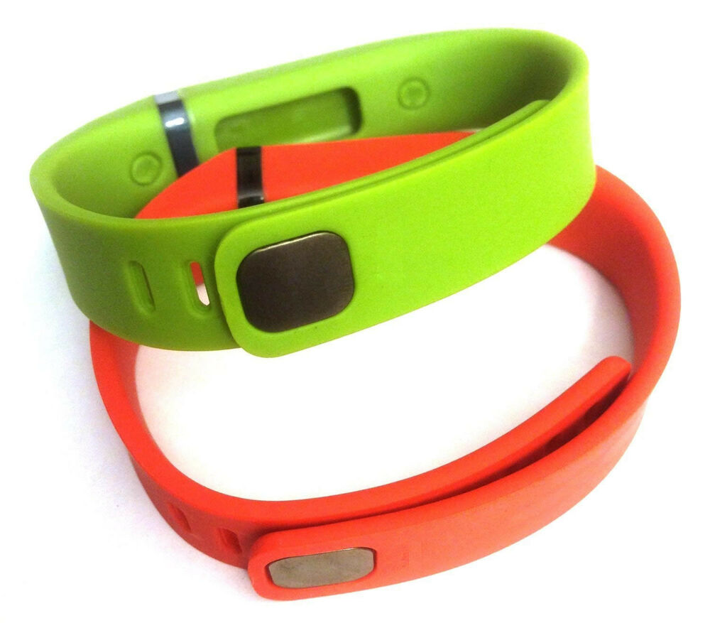 2 large Combo LIME, TANGERINE FitBit FLEX Wristband ...