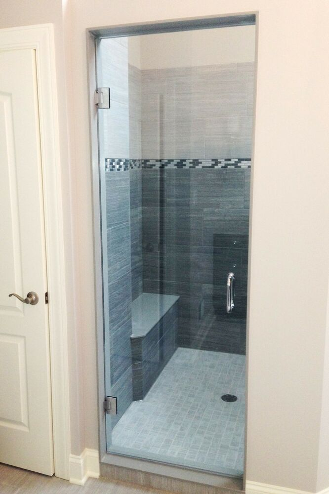 3 8 Quot Frameless Glass Shower Door With Clearshield Ebay