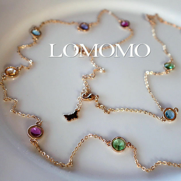 18K Yellow Gold Plated Multi Colour Gems Long Necklace,2 ...