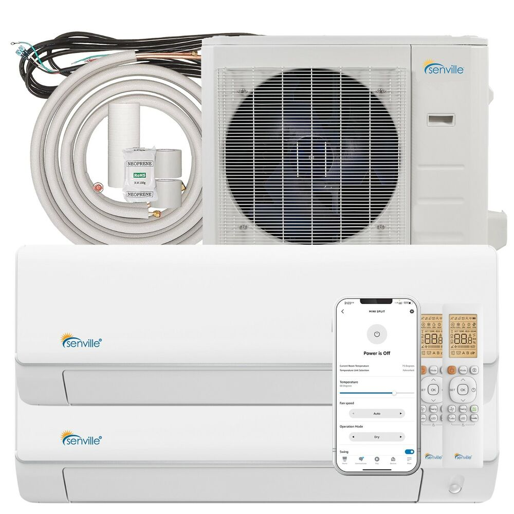 18000 Btu Dual Zone Ductless Mini Split Air Conditioner