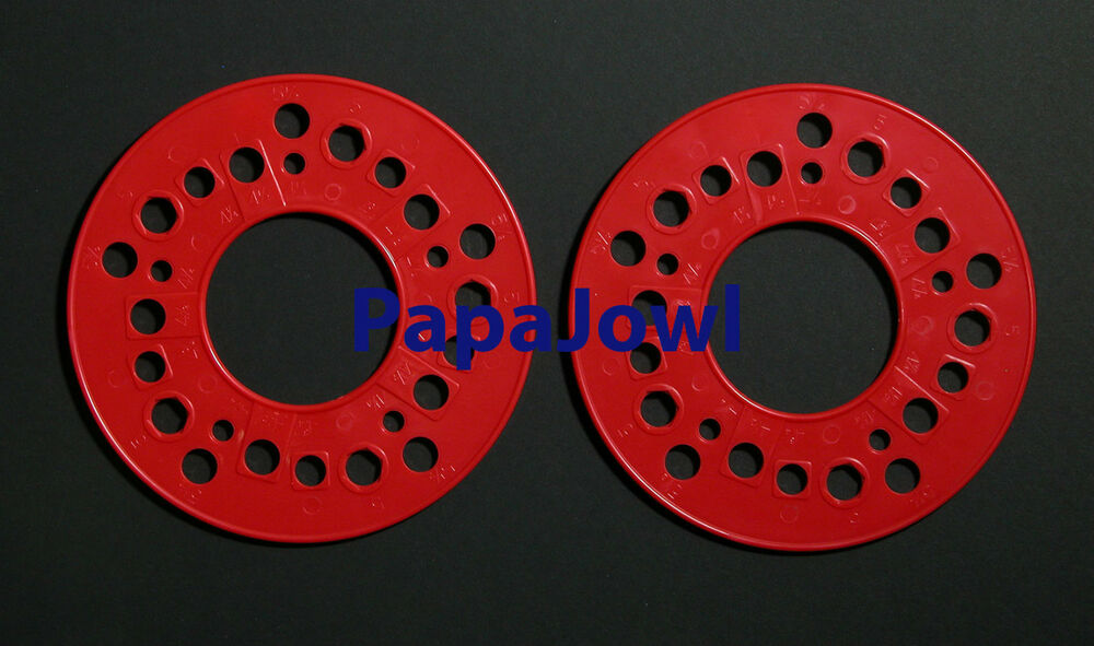 Wheel axle bolt pattern gauge templates 5 lug american chevy ford