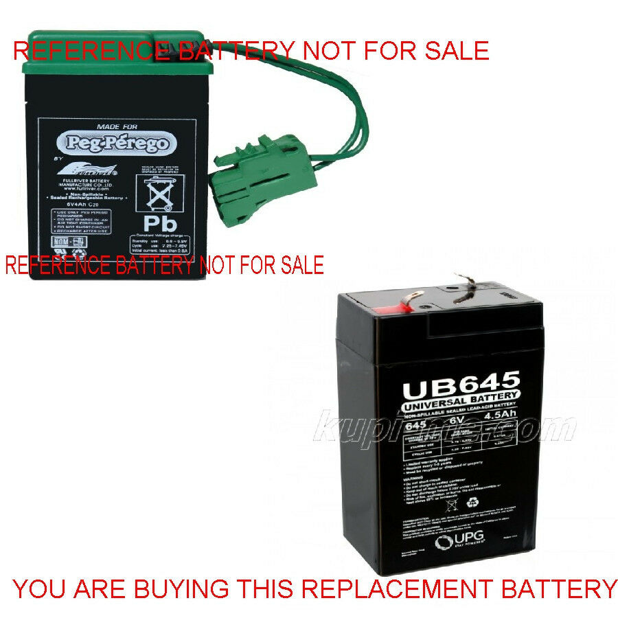 peg perego new replacement battery 6 volt 4 5 ah new 6v tractor ebay. Black Bedroom Furniture Sets. Home Design Ideas