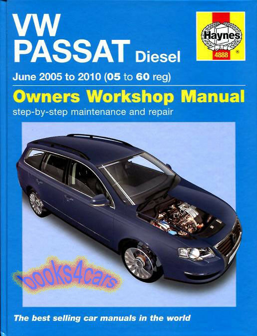 Volkswagen Passat Shop Manual Service Repair Book Diesel