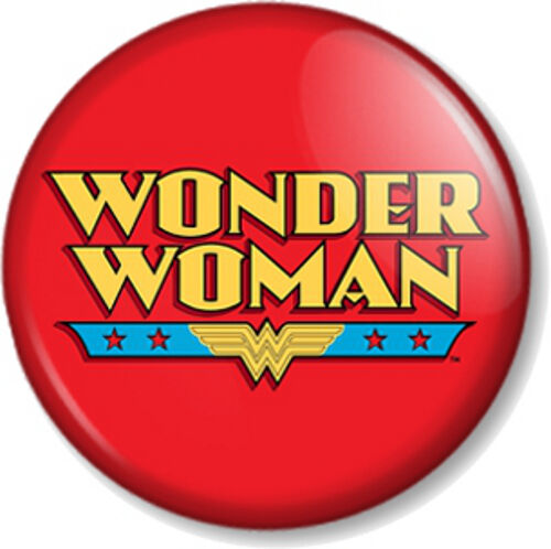 wonder woman logo 2 25mm pin button badge lynda carter