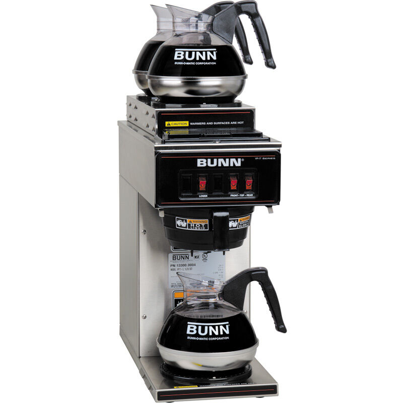 Bunn Coffee Maker Rebuild Kit : Bunn 3 Warmer Commercial Coffee Maker Machine ~ Stainless Steel Pourover Brewer eBay