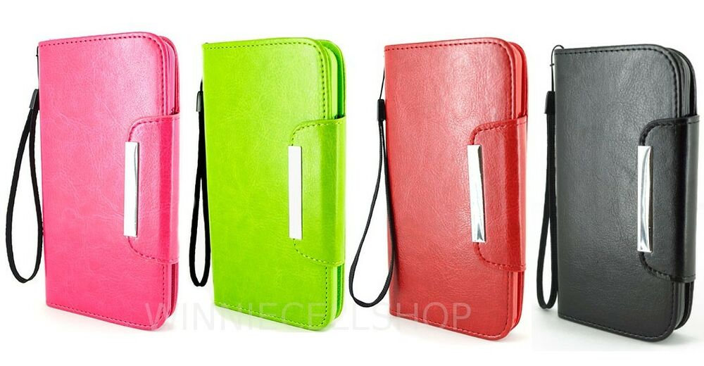 wrist strap for iphone pu leather folio wallet flip cover w wrist for 16527
